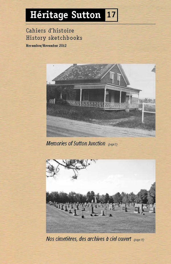 Cahier d'histoire 17 - novembre 2012
