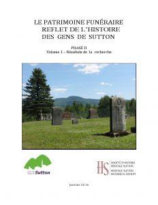 Rapport Le patrimoine funéraire 2016 - Phase 2
